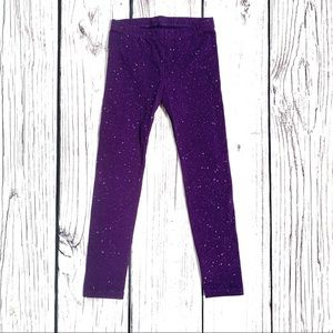 Cat & Jack Purple Sparkle Leggings 5t